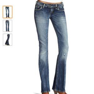 Silver Jeans Tuesday Bootcut Jeans, sz 25